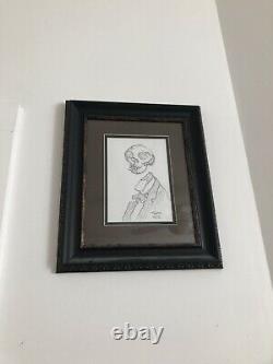Skeleton Smoking original art by Mike Mignola