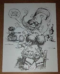 Skottie Young Tank Girl Original Art Sketch Commission