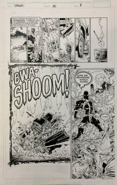 Spawn Vol 1 #30 Page 08 Original Art Comicbook Todd Mcfarlane, Greg Capullo