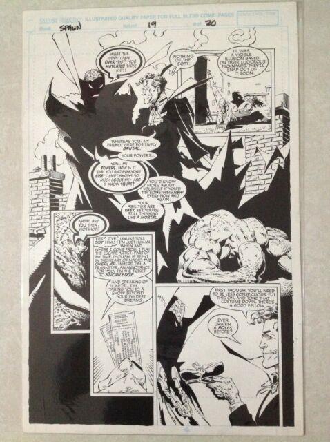 Spawn Issue 19 Page 20 Original Art Page Greg Capullo Todd Mcfarlane Batman