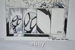 Spectacular Spider-Man 1994 #217 Original Comic Art Page 5 Death of a Hero