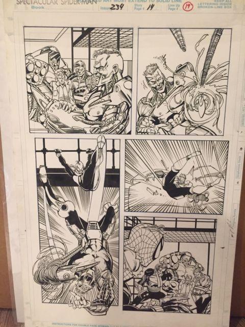 Spectacular Spider-man # 234 Pg Page 14 Original Comic Art Sal Buscema
