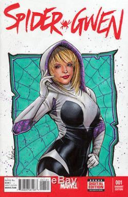 Spider Gwen Original Art Sketch Cover Spider Gwen #001 Red Jim Kyle