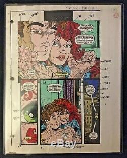 Spider-Man #1 (Page #10) 1990 Original Color Guide Signed by Bob Sharen