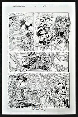 Spider-Man #11 Page Original Art Spidey Vs The Juggernaut By John Romita Jr RARE