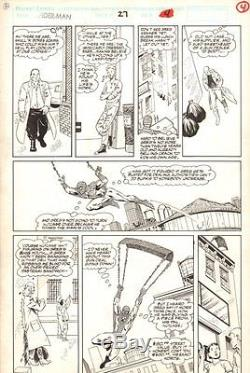 Spider-Man #27 p. 4 Spidey Web-Slinging 1992 art by Marshall Rogers