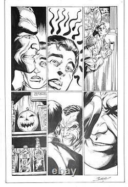 Spider-Man Life Story Pg 14 Mark Bagley Original Comic Art Norman Osborn Rare