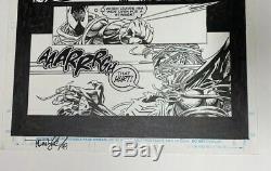 Spider-man 53 Original Art Page 16 20 Scarlet Spider V Venom Tom Lyle 1/2 Splash