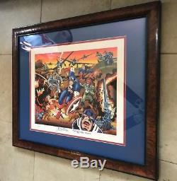 Stan Lee, Jack Kirby, Joe Simon Signed Captain America 70th COA #ed 48/70 Custom