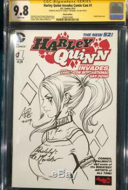 Stanley Artgerm Lau CGC 9.8 SIGNED ORIGINAL SKETCH HARLEY QUINN Joker Batman