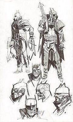 Steampunk Gotham Batman 7 Figure DC Design Art 2011 art by Sean Gordon Murphy