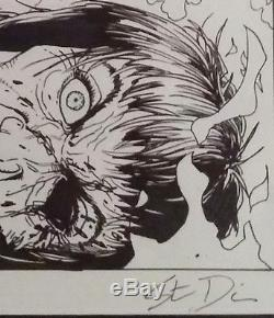 Steve Dillon Signed Original Comic Art Punisher Ma Gnucci Fire Death of Marvel