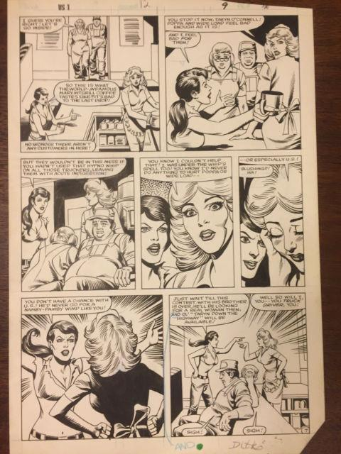 Steve Ditko Original Art Page From Us #1 Issue #12 Page #9 Hot Girls Arguing