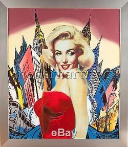 Steve Kaufman Marilyn Monroe New York City Comic Original Oil Painting Documente