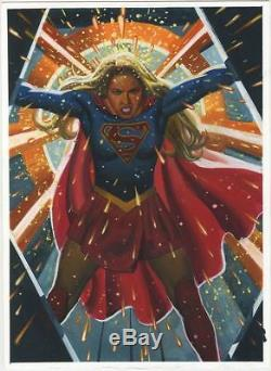 Steve Rude Supergirl Watercolor and Prismacolor Painting Melissa Benoist