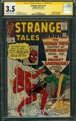 Strange Tales 115 CGC 3.5 SS Stan Lee Ditko cover Kirby art Dr Strange Origin 63
