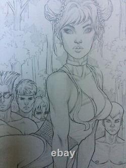 Street fighter Chun Li Nei Ruffino swimsuit issue original cover art+comic book