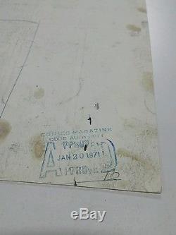 Sub-Mariner #39 Original Art Ross Andru Jim Mooney
