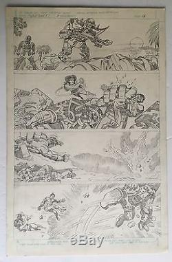 Super Powers #3 page 18 all Jack Kirby pencils Original art