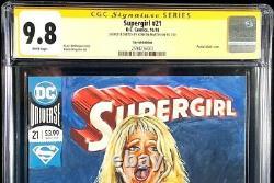 Supergirl #21 Cgc Ss 9.8 Original Art Sketch Batman Superman Teen Titans Justice