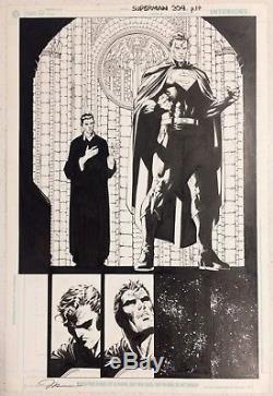 Superman #204 Page 17 Jim Lee Original Art Half Splash