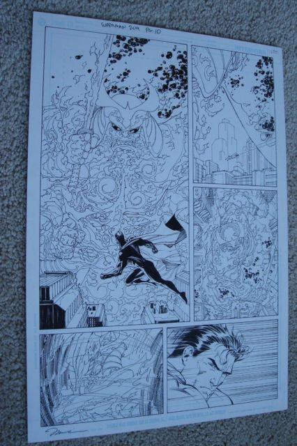 Superman #209 Pg. 10 Jim Lee Scott Williams Original Comic Art