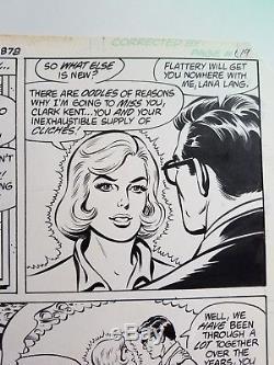Superman 373 page 16 Original art Curt Swan / Dave Hunt