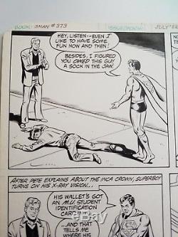 Superman 373 page 7 Original art Curt Swan / Dave Hunt