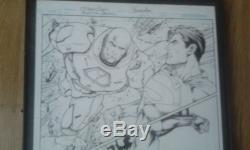 Superman Batman 75 original double 1/2 Splash Page Davis Hope Joker Lex Luthor