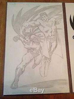 Superman/Batman Pinup 2-Piece Set Ed McGuinness & Dexter Vines