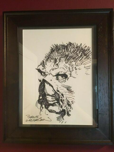 Swamp Thing Original Art Commission Sketch Signed Bernie Wrightson 11x14