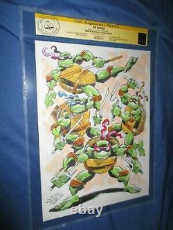 TEENAGE MUTANT NINJA TURTLES TMNT Original Art Page/Sketch CGC by Jim Lawson
