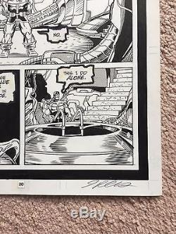 THANOS COSMIC POWERS#1 original comic art by RON LIM and PALMIOTTI Marvel
