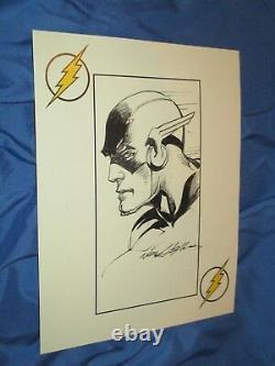 THE FLASH/BARRY ALLEN Original Art Sketch by Neal Adams JLA/Justice League