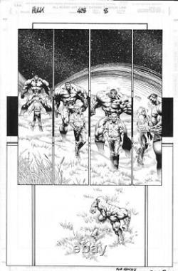 THE INCREDIBLE HULK #428 Original Comic Art p8 Liam Sharp/Robin Riggs 11x17