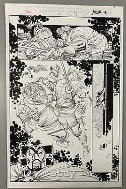 THOR #16 PAGE 9 ORIGINAL INTERIOR ART BY JOHN ROMITA Jr. SPLASH BALDER HEIMALL