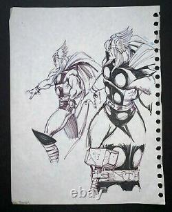 THOR Original Art sketch by RON FRENZ, 8.5x11