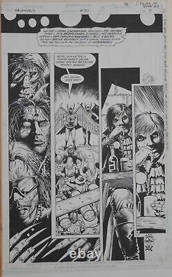 TIMOTHY TRUMAN / TIM BRADSTREET original art, HAWKWORLD #30, Pg #3, 11x17, Signed