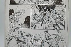 TMNT IDW #43/Page 17 Original Comic Art by Cory Smith Rare Attack on Technodrome