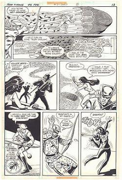 Teen Titans #46 p. 13 Speedy, Kid Flash, & Wonder Girl 1977 art by Irv Novick