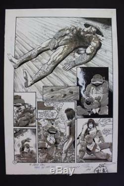 Teenage Mutant Ninja Turtles #61 Pg 4 (Original Art) 1993 Jim Lawson GUN Killing
