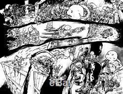Teenage Mutant Ninja Turtles Original comic Art by Ross Campbell Idw splash huge