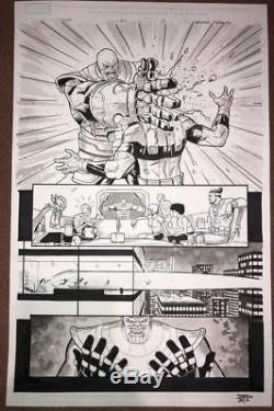 Thanos #10 Pg. 15 (2016) Original Comic Art Page -Peralta- Thanos Kills Avengers