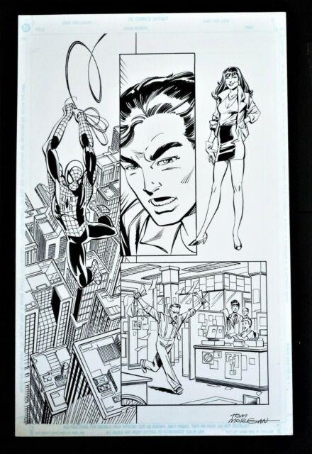 The Amazing Spider-man V2 Page Promo Original Art Spiderman Mj & Jjj John Byrne