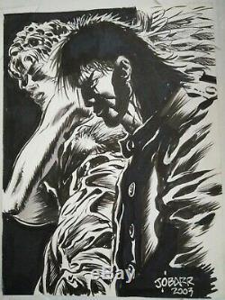 The Crow James O'Barr Obarr Eric Draven Original Art SKETCH 12'X 9.5