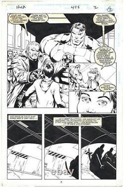 The Incredible Hulk #425, Original page art by Gary Frank & Robbin Riggs