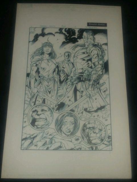 The Incredible Hulks Chaos War Original Comic Book Page Art Inks #619 Pg. 13