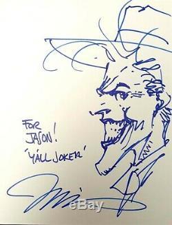 The Joker by Jim Lee DC Comics Headsketch Signed Sketch / Original Art