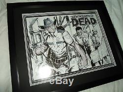 The Walking Dead Original Sketch Michonne vs. Zombie TMNT Turtles not CGC