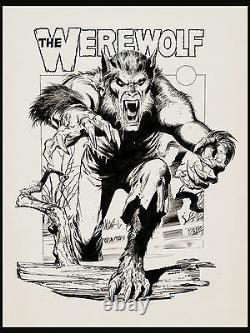 The Werewolf 3 D Poster Art by Neal Adams VTG Dynamite Magazine, 1979